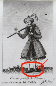 Check out them pointy heeled shoes! (and the socks, those became a aristocratic fashion symbol too!)