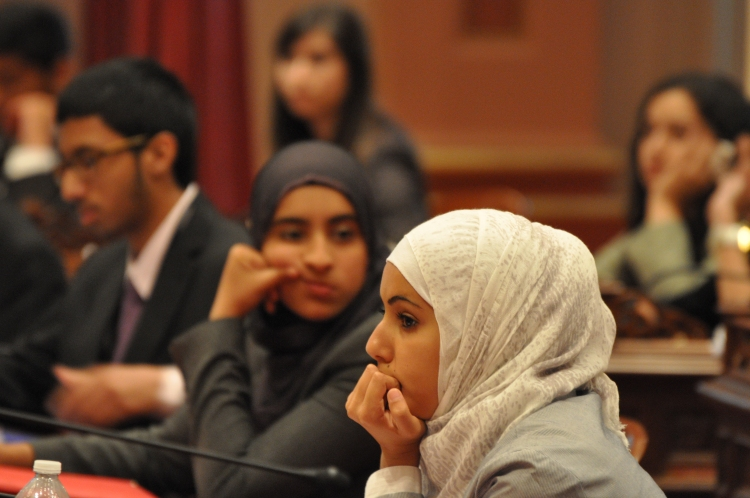 MLYP Participants on the California Senate floor in 2011.