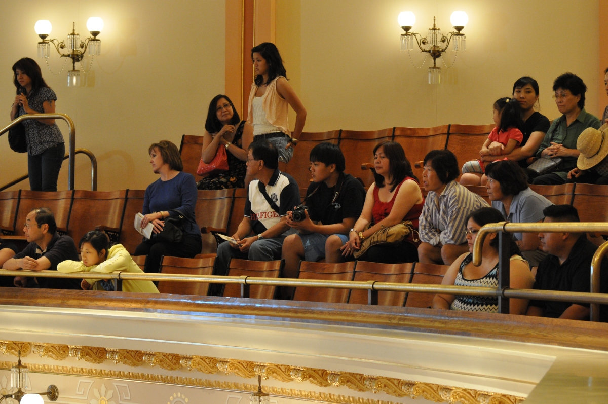 My favorite part of MYLP is watching the reaction of tourists sitting in the Public Gallery not knowing that these were students participating in MYLP.