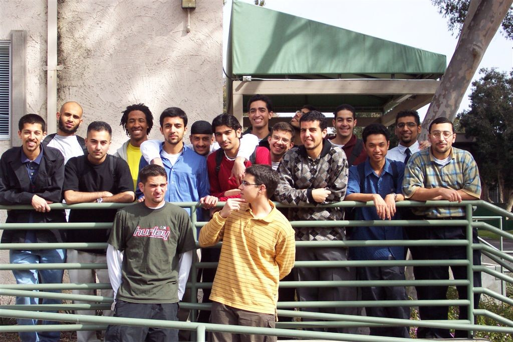 Post Jummah prayers, right before the guys went their way, we got this shot during my Freshman year at UCSD, in 2002.