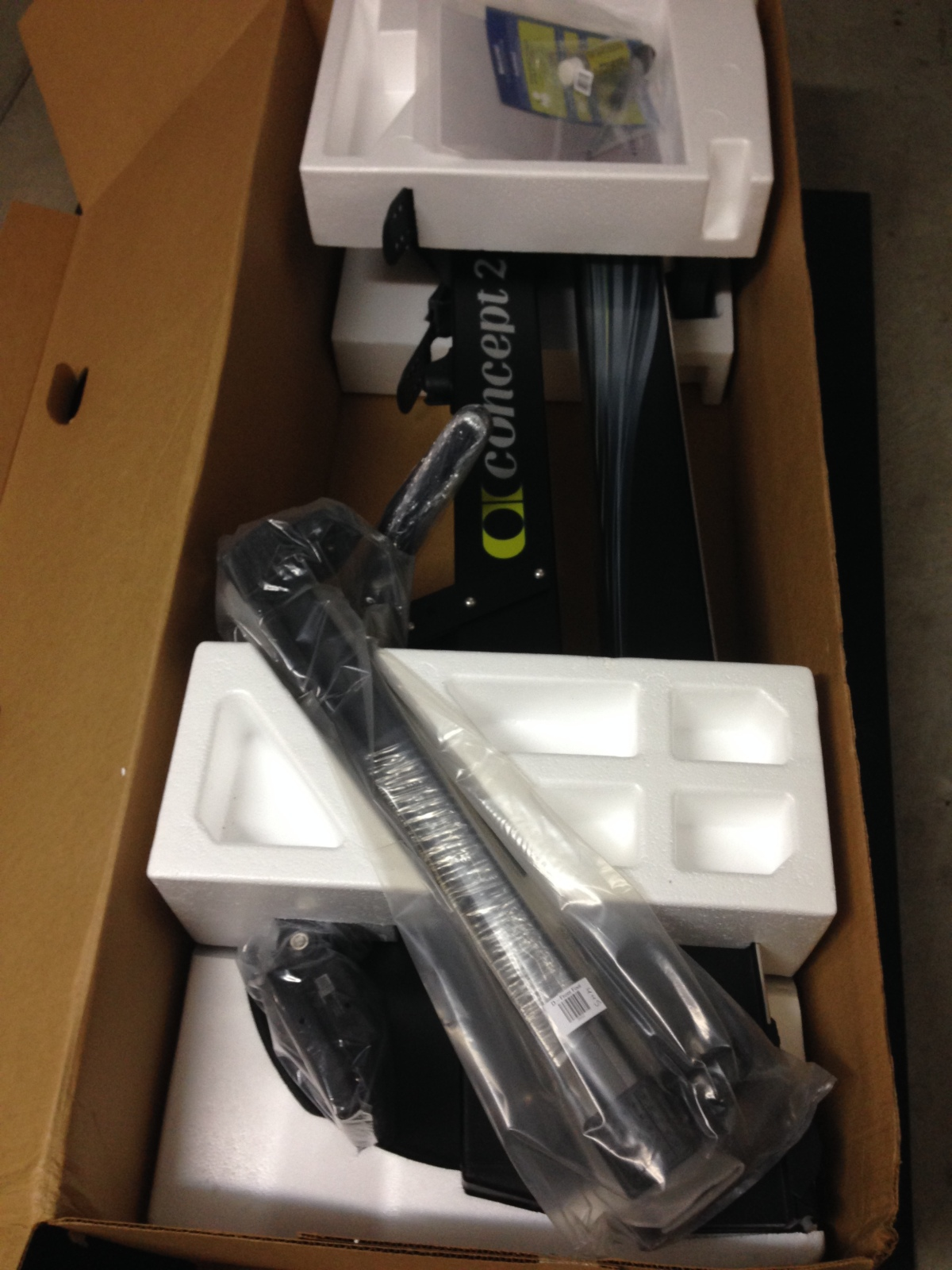 concept2 erg model d in box